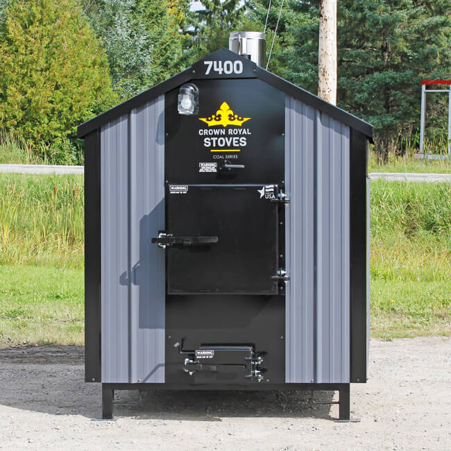 outdoor coal furnace shaker grate series crown royal stoves