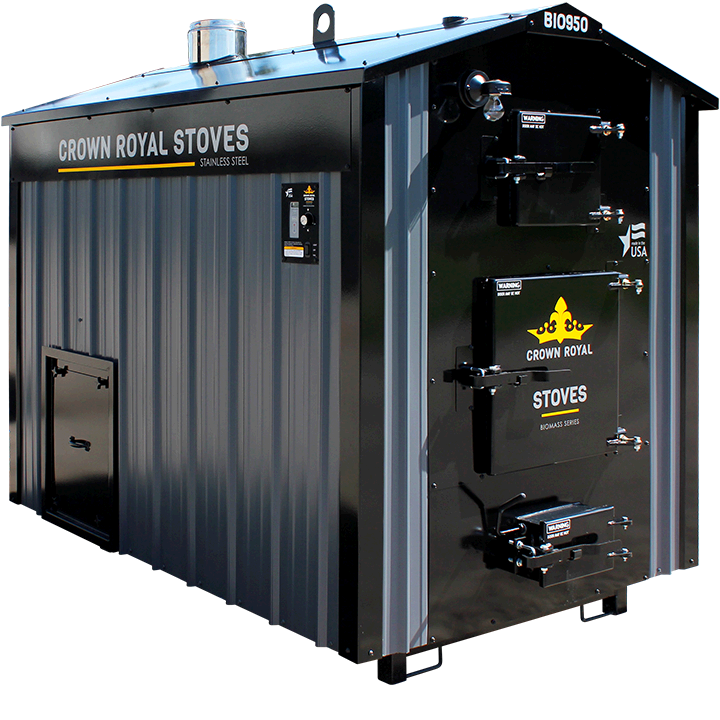 Wood Chip Boiler Biomass Series Crown Royal Stoves